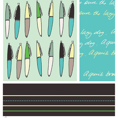 Which coordinating fabric do you like best. Teal? 4/4 photos.