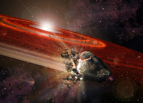 Swarms of Pluto-Size Objects Kick Sun Like Star