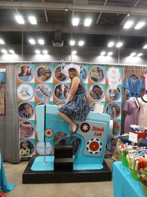 Me at the Stitch Lab booth