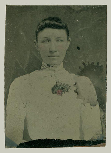 Tintype portrait of woman