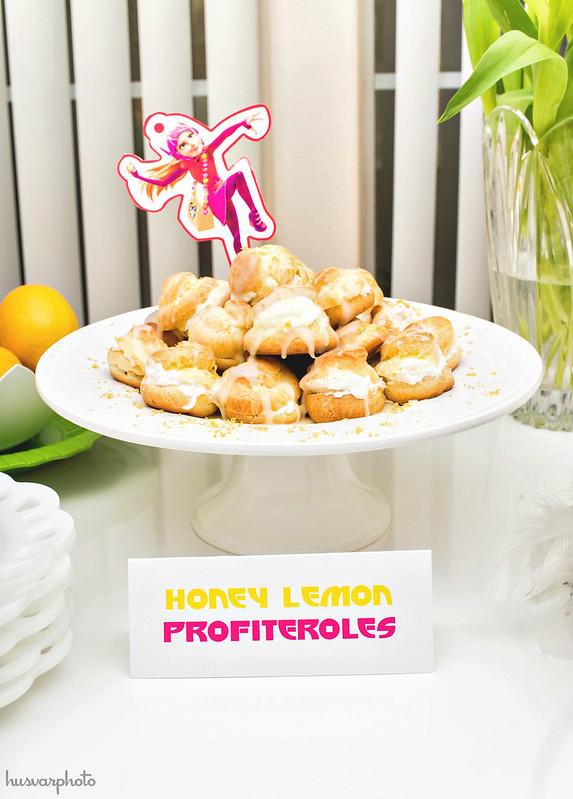Honey Lemon Profiteroles recipe Big Hero 6 party #BigHero6Release