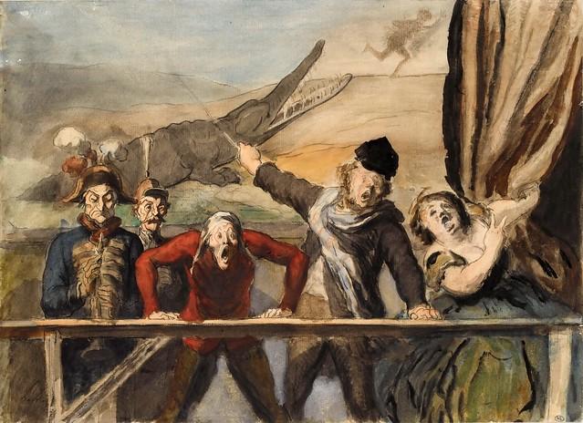 Honore Daumier - Carnival Parade