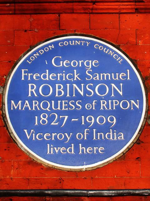 Photo of George Robinson blue plaque
