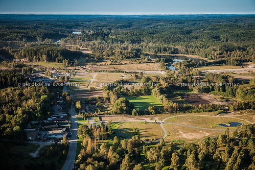 sverige swe västragötaland borås flygfoto gässlösa