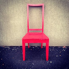 Red chair #photography #art #random #discarded #lonely #empty #uniwest #uni