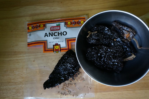 Dry ancho chiles