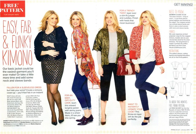 Sew, incidentally...: PRIMA Pattern, January 2015 - Kimono Jacket