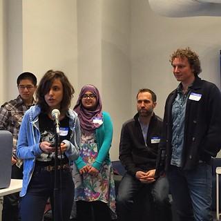 #codeacross NYC team #3, @microsoftcivic's Athena Civic Insight team!!!