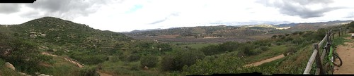 Sunday mountain bike ride.  Rain forecast but not seen.