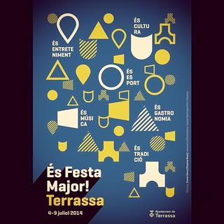 Poster for 'Festa Major de Terrassa 2014' by Karen Vicro — Geogrotesque in use. http://t.co/E0NmVXBf6U