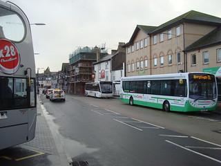 TrawsCymru T1 bus service at Aberystwyth bus station