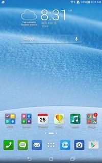 Home screen ของ ASUS fonepad 8