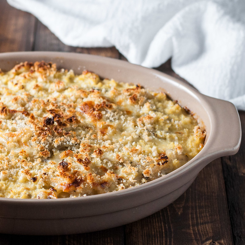 Easy vegetarian onion gratin