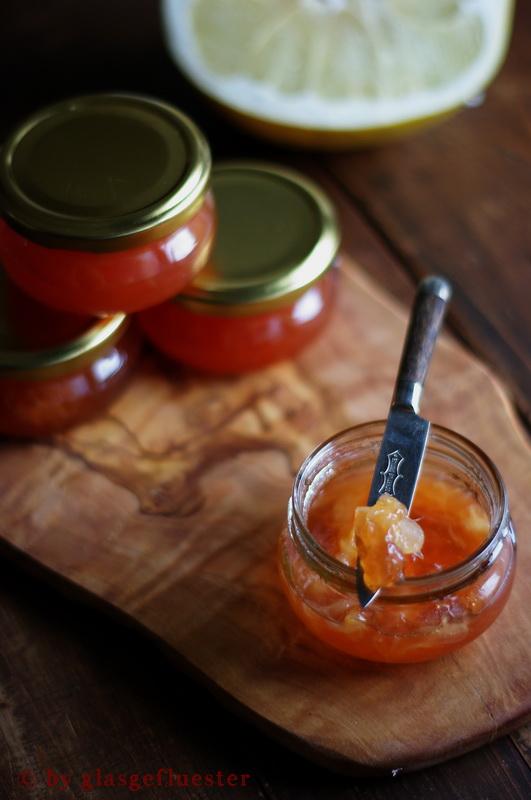 Blutorangen Pomelo Marmelade by Glasgeflüster 3 klein
