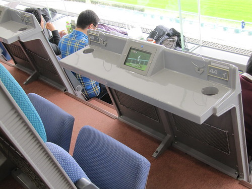 小倉競馬場の5階B指定席の座席