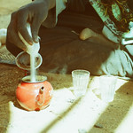 Photograph of Tuareg man pouring tea