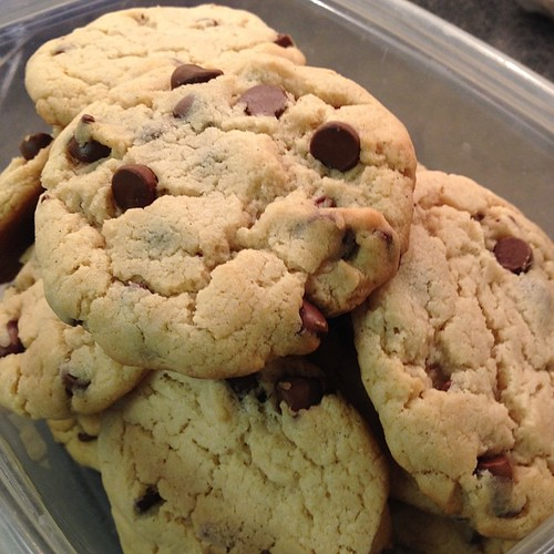 Fresh baked cream cheese chocolate chip cookies. #cookies #baking #sweettooth