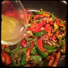 Cucina Dello Zio #homemade #pork #peppers and #paprika #CucinaDelloZio - Add the #wine marinade