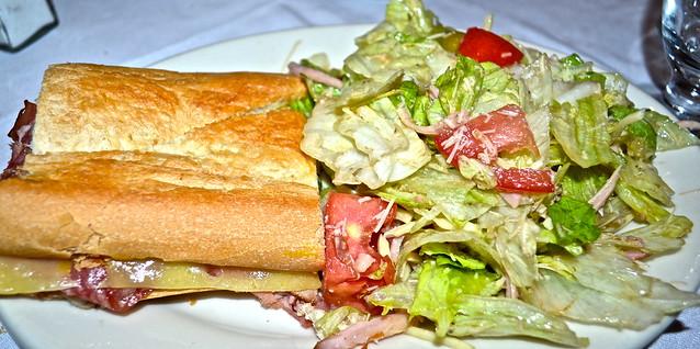 columbia restaurant tampa - cuban sandwich and 1905 salad