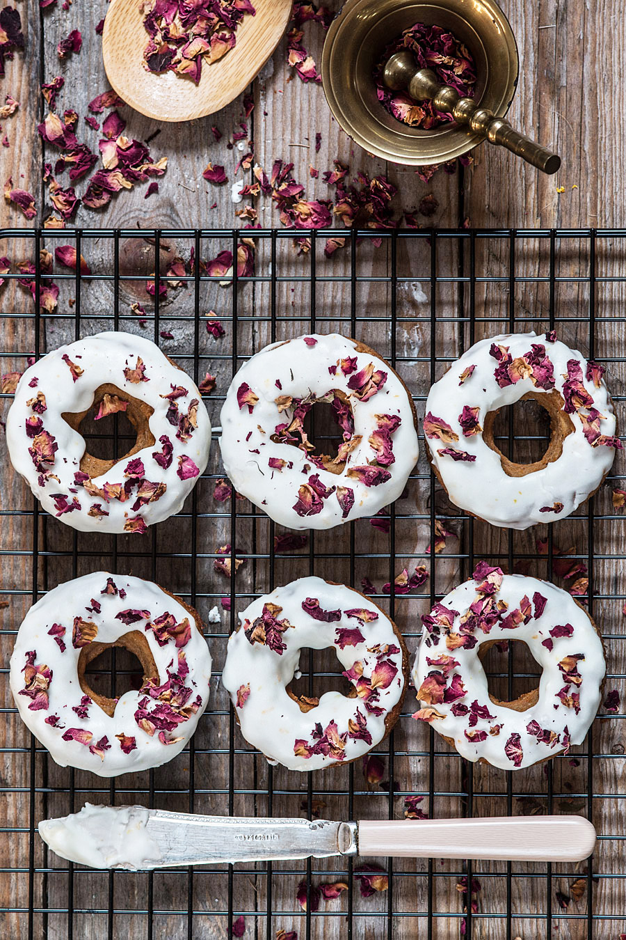 Paleo doughnuts with citrus glaze and edible roses | Lau Sunday cooks