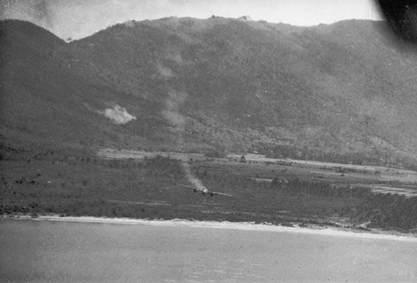 B-25 losing altitude