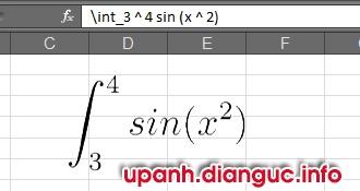 Chèn công thức toán học trong MS Excel