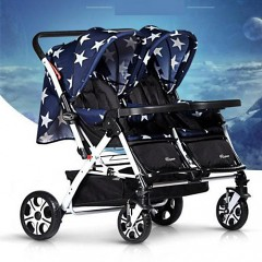 Baby Stroller For Twins Buggy Folding Handcart Double Seats Stroller