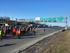 Black Lives Matter protest on I-35
