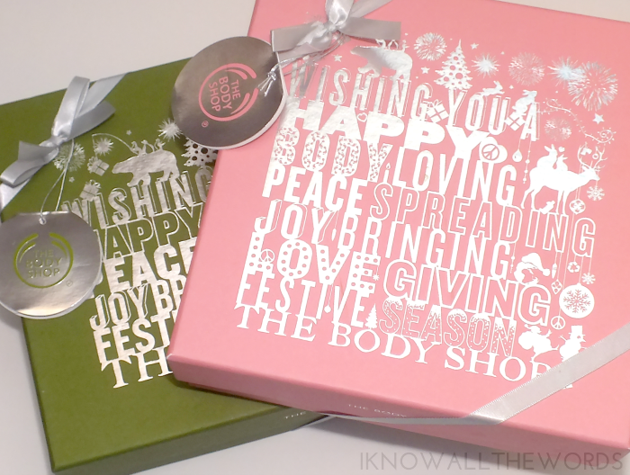 body shop gift sets- oilve oil and grapefruit