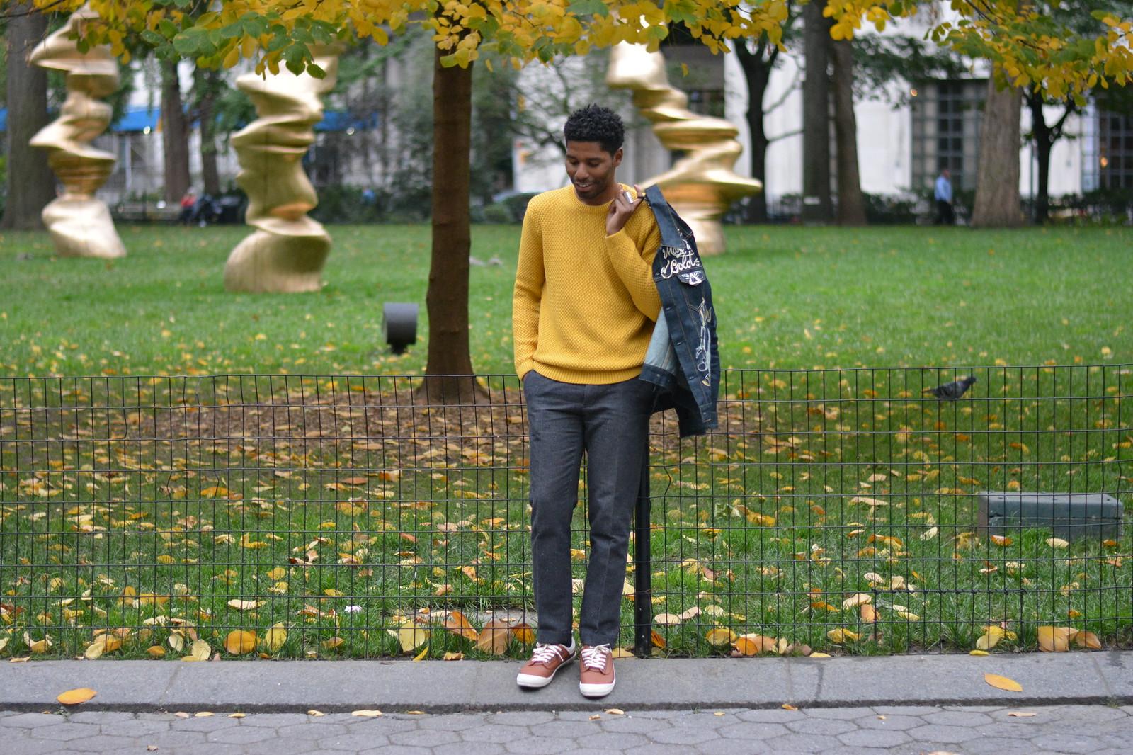 topman sweater yellow