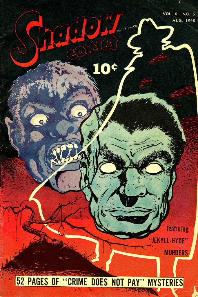 Shadow Comics V8#5 Mile High pedigree (Street & Smith, 1948) Bob Powell Cover