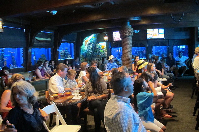A full house for the mermaid show at The Wreck Bar