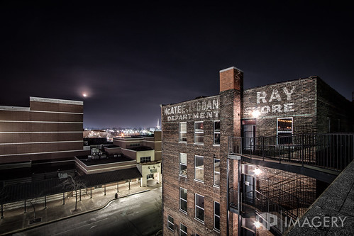 history night landscape store downtown ray parkinggarage historic department owensboro lyddane mcatees