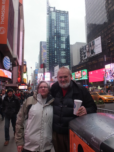 32. Lee and Irene in Times Square