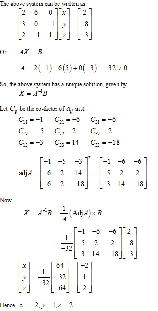 RD Sharma Class 12 Solutions Chapter 8 Solution of Simultaneous Linear Equations Ex 8.1 Q2-ix