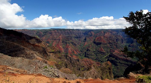 blue sky beautiful beauty spectacular landscape island hawaii view natural pacific sunny grand canyon kauai waimea magnificent konomark