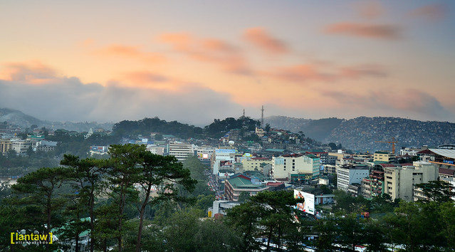 Downtown Baguio at sundown