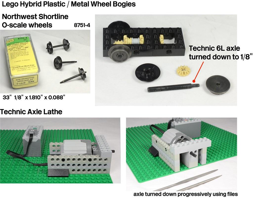 Lego Train Bogie Plastic/Metal Wheelsets