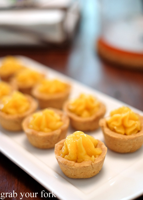 Homemade passionfruit curd tarts