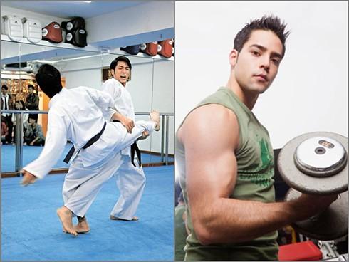 Sự khác biệt của việc tập luyện cơ bắp trong võ thuật và thể hình