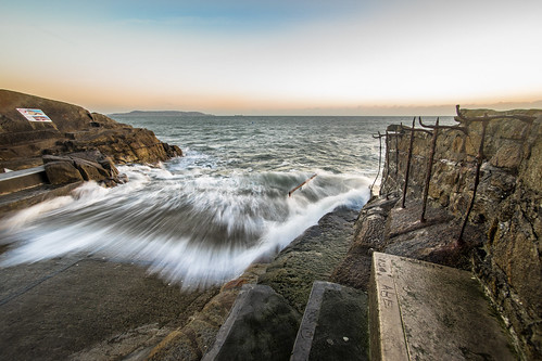 longexposure travel ireland light sea sky dublin orange seascape motion water clouds sunrise landscape photography dawn photo rocks europe day natural sony wave wideangle onsale sandycove konicaminolta1735 sonya7