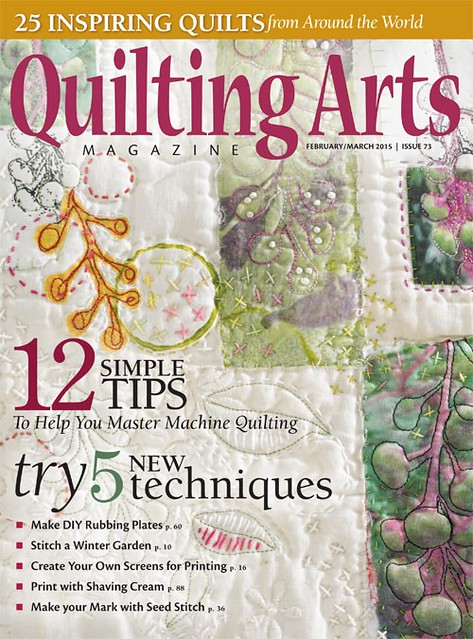 Quiliting Arts Magazine Feb/March 2015 cover girl!