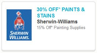 picture about Sherwin Williams Printable Coupon called 30% off Paints and Stains at Sherwin Williams Printable