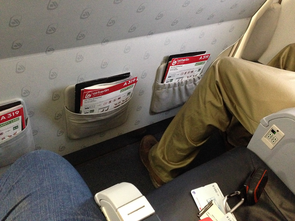 Ken and I in row 1 on Air Berlin flight LED-TXL