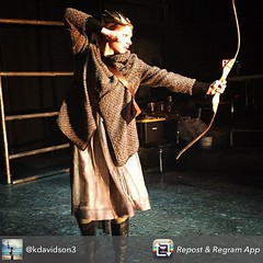 Wed, 2015-02-11 14:31 - Rienne takes aim in The Hammer Trinity tech rehearsal
