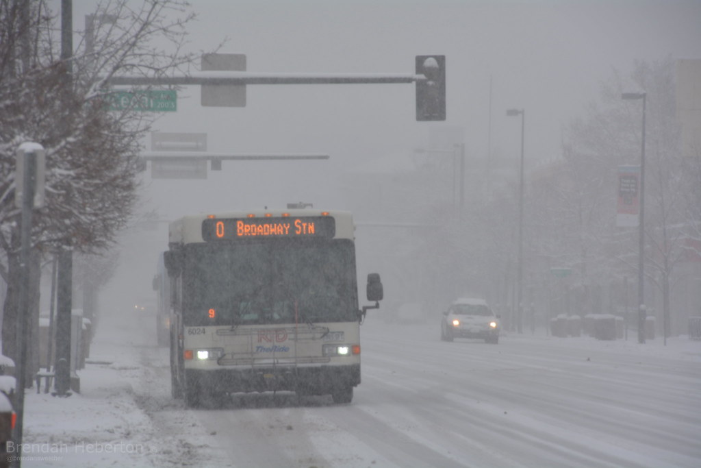Heavy snow during morning commmute, February 16.  Denver, CO | Brendan Heberton