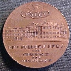 Odd Fellows Home token Pittsburgh