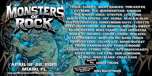 04/18 - 22/15 Monsters of Rock Cruise 2015 - Miami, FL