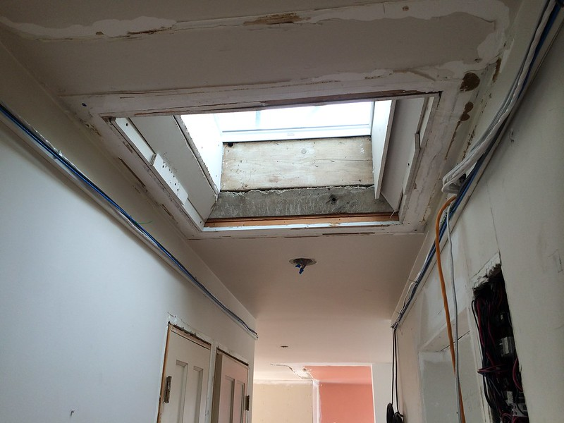 Skylight installation and well repair in the Vancouver penthouse