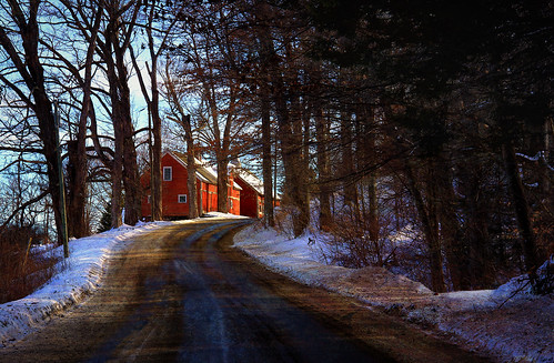 Red Barn on the Hill
